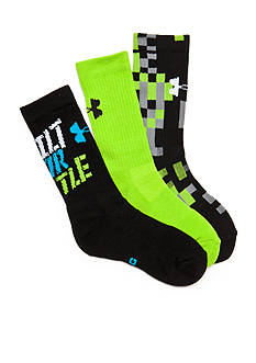 Under Armour 3-Pack Next Statement Crew Socks Boys 8-20