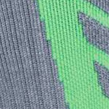 Boys Underwear: Steel/Hyper Green Under Armour Undeniable Crew Socks Boys 8-20