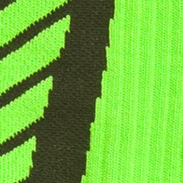Boys Socks and Underwear: Hyper Green / Black Under Armour Undeniable Crew Socks Boys 8-20