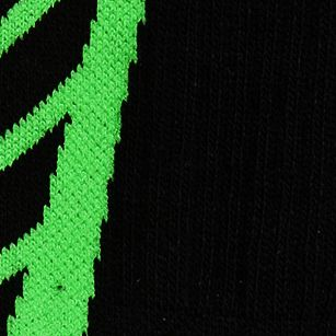 Boys Socks and Underwear: Black /    Hyper Green Under Armour Undeniable Crew Socks Boys 8-20