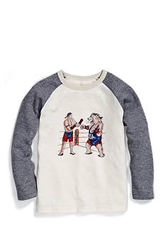 Lucky Brand Boxing Bear Raglan Boys 4-7
