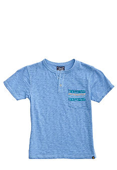 Lucky Brand Hiro Henley Pocket Tee Boys 4-7