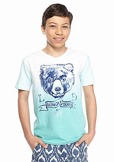 Lucky Brand Dip Dye Bear Tee Boys 8-20