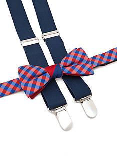 J Khaki™ Bow Tie & Adjustable Suspenders Set Boys 4-20