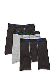 Hanes Ultimate X-TEMP Long Boxer Briefs 3-Pack Boys 8-20