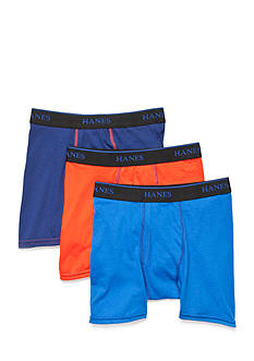 Hanes Boys' Ultimate X-TEMP Boxer Briefs 3-Pack Boys 8-20