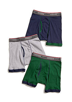 Hanes Set of 3 Ringer Boxer Briefs Boys 4-20