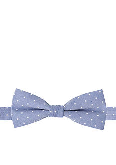 IZOD Chambray Dot Bow Tie Boys 4-20