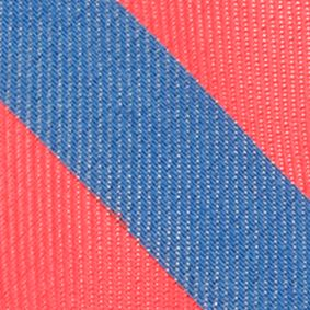 Boys Youth Ties: Coral IZOD Neon Bar Stripe Tie Boys 4-20