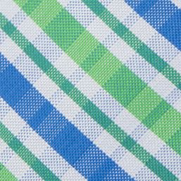 Boys Ties: Green IZOD Oxford Multi Plaid Tie Boys 4-20