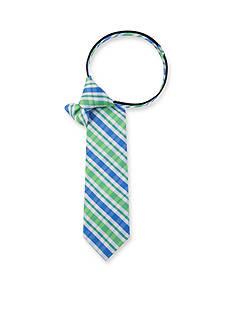 IZOD Oxford Multi Plaid Tie Boys 4-20