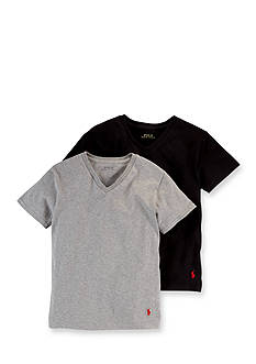 Ralph Lauren Childrenswear 2-Pack V-Neckline Tee Set Boys 8-20