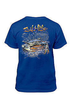 Salt Life Short Sleeve Blue Crab Tee Boys 8-20