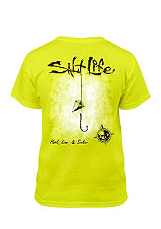 Salt Life Short Sleeve Hook Line and Sinker Tee Boys 8-20