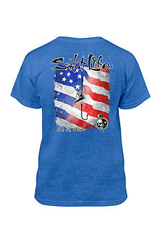 Salt Life Hook Line Sink Salt Wash Tee Boys 8-20