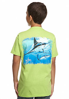 Guy Harvey Short Sleeve Hoodat Tee Boys 8-20