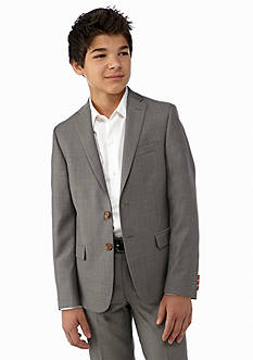 Lauren Ralph Lauren Dress Apparel Gray Pindot Blazer Boys 8-20