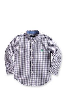 Chaps Tattersall Poplin Shirt Boys 4-7