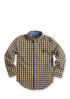 Chaps Gingham Poplin Shirt Boys 4-7