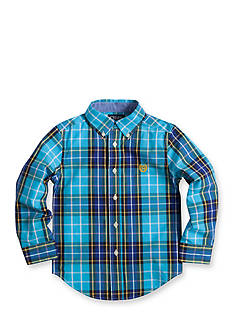 Chaps Plaid Poplin Shirt Boys 4-7