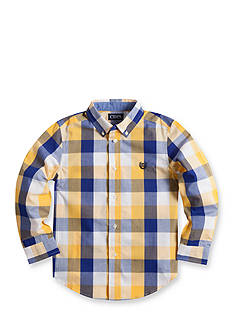 Chaps Checked Poplin Shirt Boys 4-7