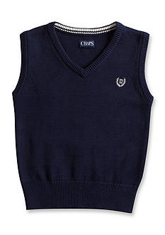 Chaps Solid Navy Sweater Vest Boys 4-7