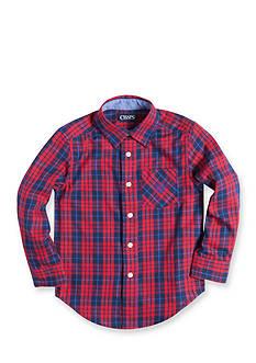 Chaps Long Sleeve Plain Button Down Shirt Boys 4-7