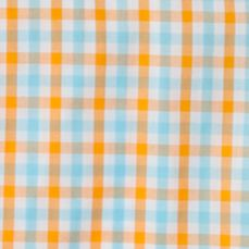 Boys Button Down Shirts: Orange Chaps Checked Shirt Boys 8-20