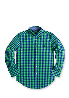 Chaps Gingham Poplin Shirt Boys 8-20