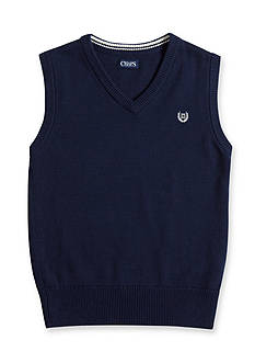 Chaps Navy Sweater Vest Boys 8-20