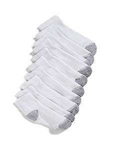 Hanes 10-Pair Pack Ankle Socks Boys 4-20