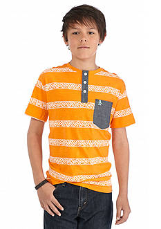 Penguin Printed Henley Shirt Boys 8-20