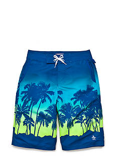 Penguin Palm Tree Boardshorts Boys 8-20