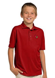 Antigua Louisville Cardinals Pique Xtra Lite Polo Boys 8-20