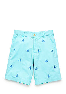J Khaki™ Sail Boat Embroidered Shorts Boys 8-20