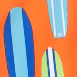Little Boys Swimwear: Orange Surfs J Khaki™ Swim Trunks Boys 4-7