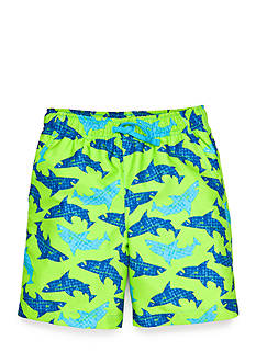 J Khaki™ Printed Swim Trunks Boys 4-7