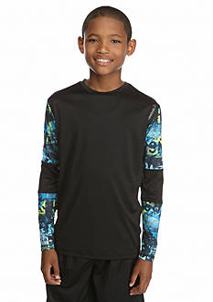 Reebok Long Sleeve Sublimation Tee Boys 8-20
