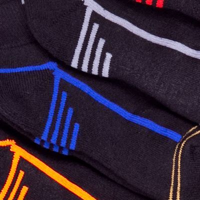 Boys Underwear: Black Gold Toe 6-Pack Athletic Quarter Socks Boys 4-20