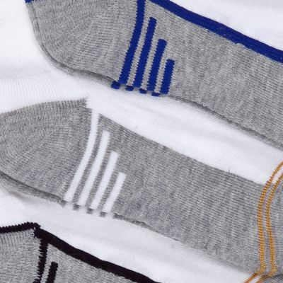 Boys Underwear: White Multi Gold Toe 6-Pack Athletic Quarter Socks Boys 4-20