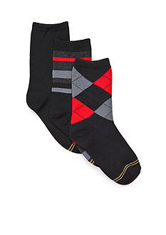 Gold Toe 3-Pack Argyle Dress Socks Boys 8-20