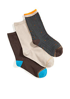 Gold Toe Pindot Crew Dress Socks 9-11