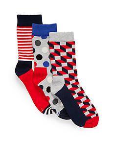 Happy Socks 3-Pair Pack Crew Socks Boys 4-20