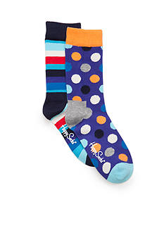 Happy Socks 2-Pack Polka Dot and Stripe Sock Set