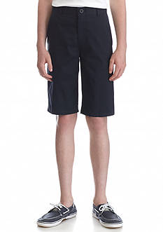 Nautica Uniform Flat Front Shorts Husky Boys 8-20