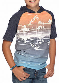 Ocean Current Palm Print Hoodie Tee Boys 8-20