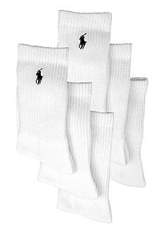 Ralph Lauren Childrenswear 6-Pack Polo Athletic Crew Socks Boys 4-20
