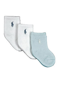 Ralph Lauren Childrenswear 3pk Terry Solid Socks