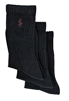 Ralph Lauren Childrenswear 3-Pack Classic Crew Socks Boys 4-20