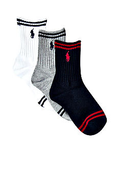 Ralph Lauren Childrenswear 3Pk Collegiate Stripe Socks Toddler Boys